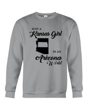JUST A KANSAS GIRL IN AN ARIZONA WORLD Crewneck Sweatshirt thumbnail