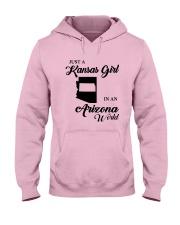JUST A KANSAS GIRL IN AN ARIZONA WORLD Hooded Sweatshirt front