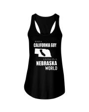 JUST A CALIFORNIA GUY IN A NEBRASKA WORLD Ladies Flowy Tank thumbnail