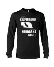 JUST A CALIFORNIA GUY IN A NEBRASKA WORLD Long Sleeve Tee thumbnail