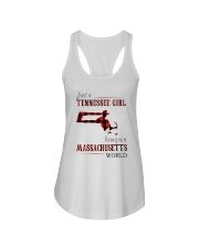 JUST A TENNESSEE GIRL IN A MASSACHUSETTS WORLD Ladies Flowy Tank thumbnail