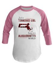 JUST A TENNESSEE GIRL IN A MASSACHUSETTS WORLD Baseball Tee thumbnail
