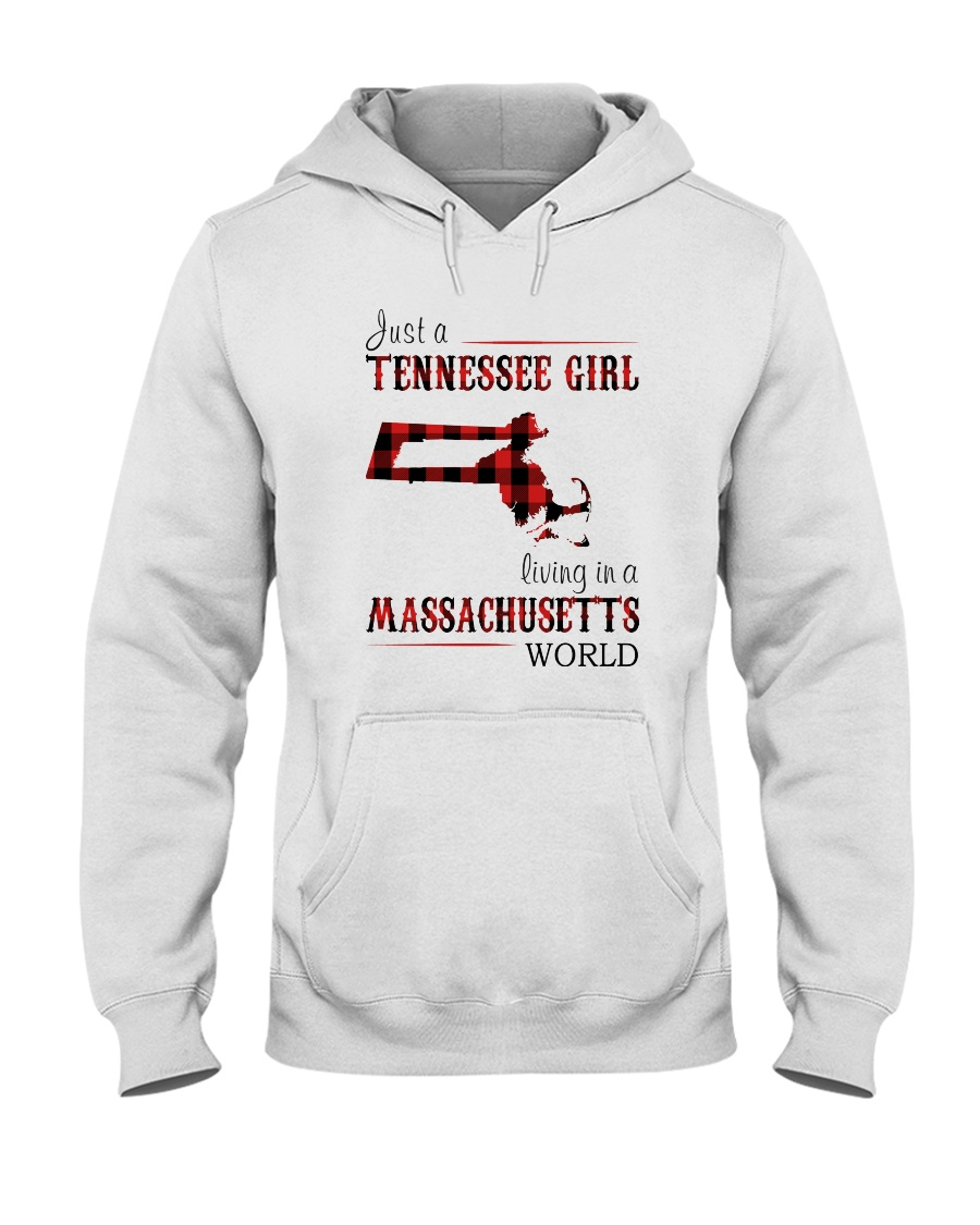 JUST A TENNESSEE GIRL IN A MASSACHUSETTS WORLD Hooded Sweatshirt