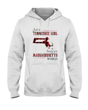 JUST A TENNESSEE GIRL IN A MASSACHUSETTS WORLD Hooded Sweatshirt front