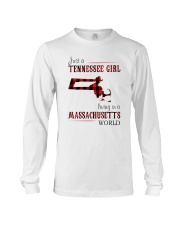 JUST A TENNESSEE GIRL IN A MASSACHUSETTS WORLD Long Sleeve Tee thumbnail