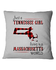 JUST A TENNESSEE GIRL IN A MASSACHUSETTS WORLD Square Pillowcase thumbnail