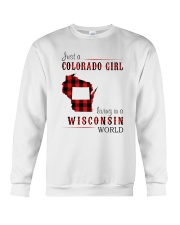 JUST A COLORADO GIRL IN A WISCONSIN WORLD Crewneck Sweatshirt thumbnail