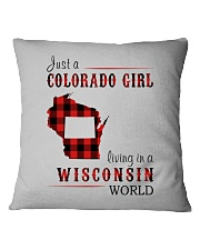 JUST A COLORADO GIRL IN A WISCONSIN WORLD Square Pillowcase thumbnail