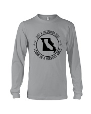 CALIFORNIA GIRL LIVING IN MISSOURI WORLD Long Sleeve Tee thumbnail