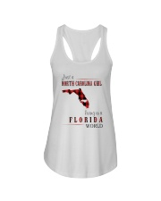 JUST A NORTH CAROLINA GIRL IN A FLORIDA WORLD Ladies Flowy Tank thumbnail