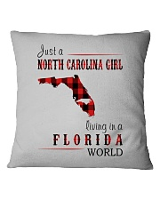 JUST A NORTH CAROLINA GIRL IN A FLORIDA WORLD Square Pillowcase tile