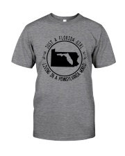 FLORIDA GIRL LIVING IN PENNSYLVANIA WORLD Classic T-Shirt thumbnail