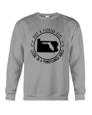 FLORIDA GIRL LIVING IN PENNSYLVANIA WORLD Crewneck Sweatshirt thumbnail