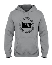 FLORIDA GIRL LIVING IN PENNSYLVANIA WORLD Hooded Sweatshirt front
