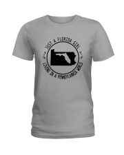 FLORIDA GIRL LIVING IN PENNSYLVANIA WORLD Ladies T-Shirt thumbnail