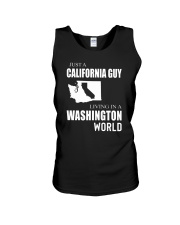 JUST A CALIFORNIA GUY IN A WASHINGTON WORLD Unisex Tank tile