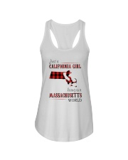 JUST A CALIFORNIA GIRL IN A MASSACHUSETTS WORLD Ladies Flowy Tank thumbnail