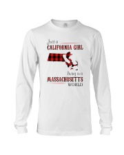 JUST A CALIFORNIA GIRL IN A MASSACHUSETTS WORLD Long Sleeve Tee tile