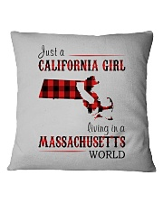 JUST A CALIFORNIA GIRL IN A MASSACHUSETTS WORLD Square Pillowcase thumbnail