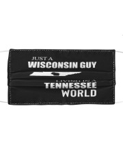 JUST A WISCONSIN GUY IN A TENNESSEE WORLD Cloth face mask thumbnail