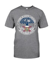 LIVING IN SOUTH CAROLINA WITH FLORIDA ROOTS Classic T-Shirt thumbnail