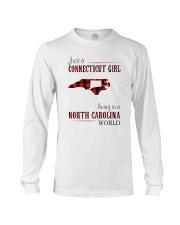 JUST A CONNECTICUT GIRL IN A NORTH CAROLINA WORLD Long Sleeve Tee thumbnail