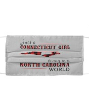 JUST A CONNECTICUT GIRL IN A NORTH CAROLINA WORLD Cloth face mask thumbnail