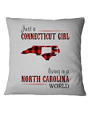 JUST A CONNECTICUT GIRL IN A NORTH CAROLINA WORLD Square Pillowcase thumbnail