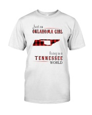JUST AN OKLAHOMA GIRL IN A TENNESSEE WORLD Classic T-Shirt tile