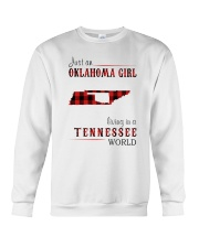JUST AN OKLAHOMA GIRL IN A TENNESSEE WORLD Crewneck Sweatshirt tile