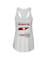 JUST AN OKLAHOMA GIRL IN A TENNESSEE WORLD Ladies Flowy Tank tile