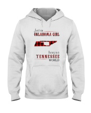 JUST AN OKLAHOMA GIRL IN A TENNESSEE WORLD Hooded Sweatshirt tile