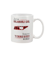 JUST AN OKLAHOMA GIRL IN A TENNESSEE WORLD Mug tile