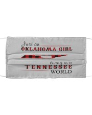JUST AN OKLAHOMA GIRL IN A TENNESSEE WORLD Cloth face mask thumbnail
