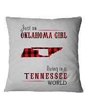 JUST AN OKLAHOMA GIRL IN A TENNESSEE WORLD Square Pillowcase tile