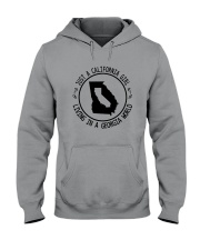 CALIFORNIA GIRL LIVING IN GEORGIA WORLD Hooded Sweatshirt front