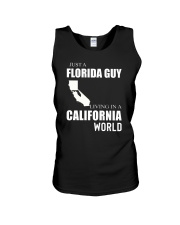 JUST A FLORIDA GUY IN A CALIFORNIA WORLD Unisex Tank thumbnail