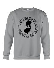 CALIFORNIA GIRL LIVING IN NEW JERSEY WORLD Crewneck Sweatshirt thumbnail