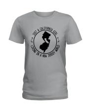CALIFORNIA GIRL LIVING IN NEW JERSEY WORLD Ladies T-Shirt thumbnail