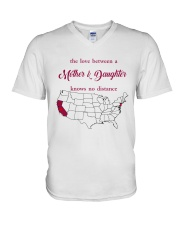 NEW JERSEY CALIFORNIA THE LOVE MOTHER AND DAUGHTER V-Neck T-Shirt thumbnail