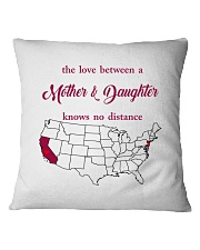 NEW JERSEY CALIFORNIA THE LOVE MOTHER AND DAUGHTER Square Pillowcase thumbnail