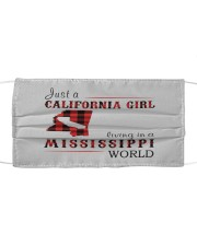 JUST A CALIFORNIA GIRL IN A MISSISSIPPI WORLD Cloth face mask thumbnail