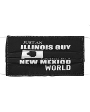 JUST AN ILLINOIS GUY IN A NEW MEXICO WORLD Cloth face mask thumbnail