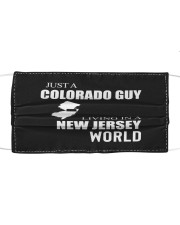 JUST A COLORADO GUY IN A NEW JERSEY WORLD Cloth face mask thumbnail