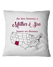 ARIZONA MASSACHUSETTS THE LOVE MOTHER AND SON Square Pillowcase thumbnail