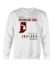 JUST A MICHIGAN GIRL IN AN INDIANA WORLD Crewneck Sweatshirt tile