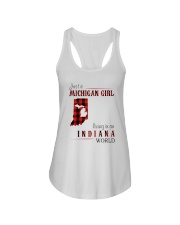 JUST A MICHIGAN GIRL IN AN INDIANA WORLD Ladies Flowy Tank thumbnail