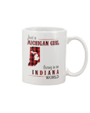 JUST A MICHIGAN GIRL IN AN INDIANA WORLD Mug thumbnail
