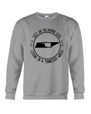 OKLAHOMA GIRL LIVING IN TENNESSEE WORLD Crewneck Sweatshirt thumbnail