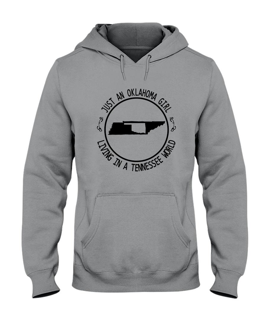 OKLAHOMA GIRL LIVING IN TENNESSEE WORLD Hooded Sweatshirt